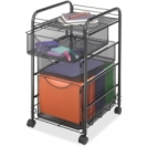 Oynx Mesh File Cart with 1 file drawer & 2 small drawers