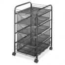 Oynx Mesh File Cart with 4 Drawers