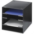 4 Compartment Steel Desktop Organizer