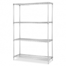 Chrome Wire Shelving Starter Kit 36 inch Wide 24inch Deep