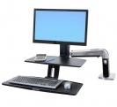 WorkFit-A HD Below Desk Single Monitor Sit/Stand