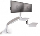 Altissimo Sit/Stand Desktop Unit- Dual Monitor