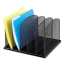 Onyx 5 Upright Sections Desk Organizer