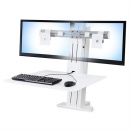 WorkFit-SR Short Surface Dual Monitor- White