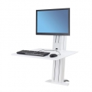 WorkFit-SR Desktop Single Monitor- White