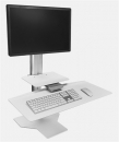 Sit2Stand Workstation - White, One Monitor