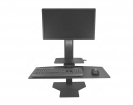 Sit2Stand Workstation - Black, One Monitor