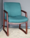 Used Armchair with Upholstered Seat and Back