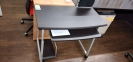 NEW Straight Computer desk laminate BLK/SILV
