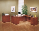 Double Diamond L-Shaped Desk
