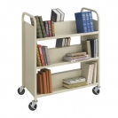 Steel Shelf Book Cart - 6 Shelves