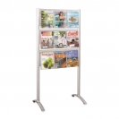 Luxe Magazine Floor Rack - 9 Pocket