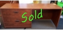 Used Credenza Straight Desk with 2 Drawer Lateral