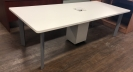 Used White Boardroom Table